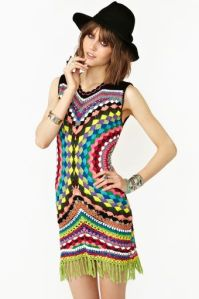 Psychedelic Crochet Dress C$277.42