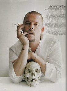 Portrait oof Alexander McQueen  by Tim Walker